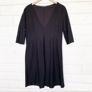 Eileen Fisher Deep V Neck Knee Length Dress